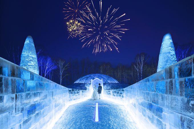 氷の世界に迷い込む!アイスヴィレッジで寒さと美しさを味わう