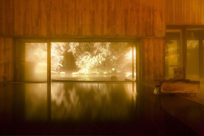 雪の青森で温泉を愉しむ