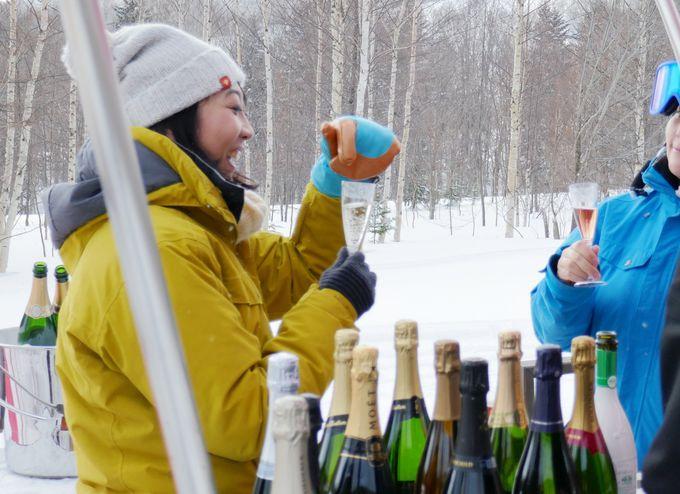 見て見て!凍ってる!? 絶景シャンパンバーのノンアルコールスパークリング