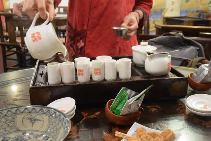 2日め(午後):十分でランタン飛ばし&九フンの茶藝館で台湾茶を