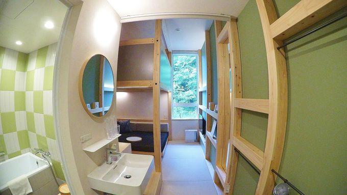 客室は「YAGURA Room」と「Twin Room」