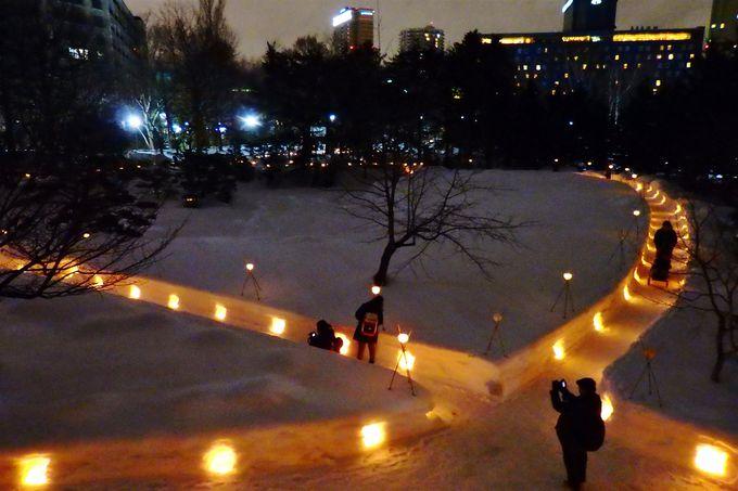 特別開園!日本庭園の雪灯りの路が幻想的