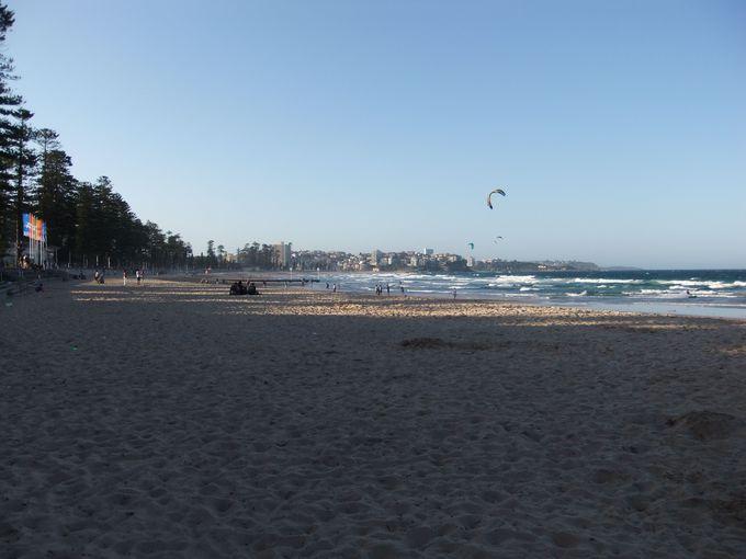 マンリー・ビーチ(Manly Beach)で、小旅行気分