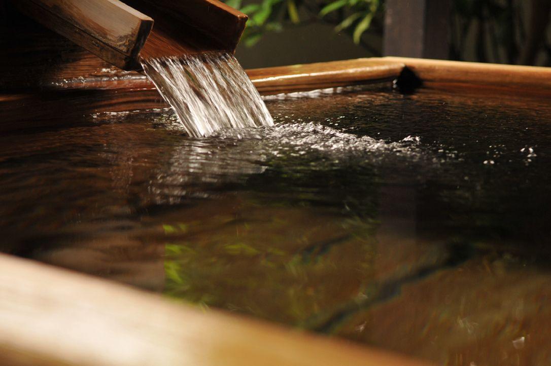 桧の露天風呂で優雅なひととき