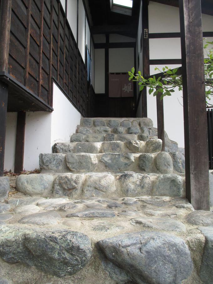 松本城主ご入湯の野天風呂へ!