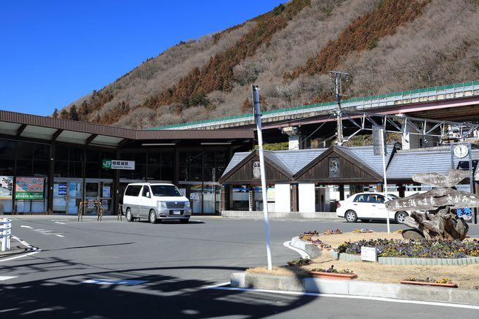 JR相模湖駅から与瀬神社境内を抜けていく登山道