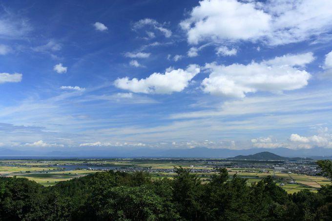 安土山山頂の見晴は素晴らしい!