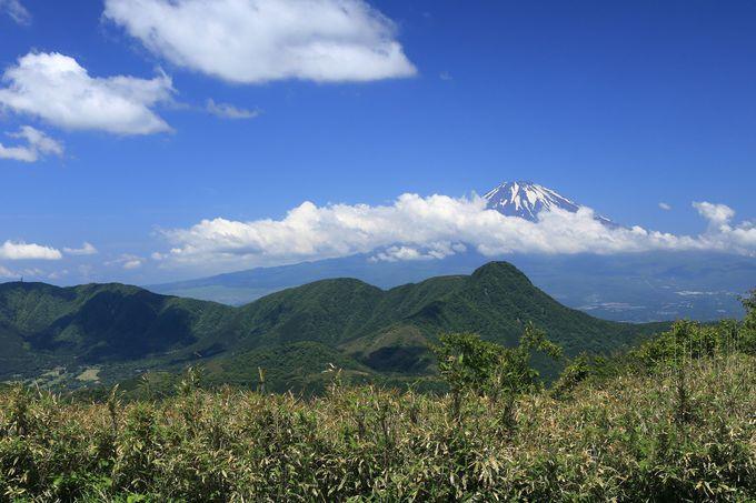 明神ヶ岳山頂からダイナミックな天翔ハイキングが始まる
