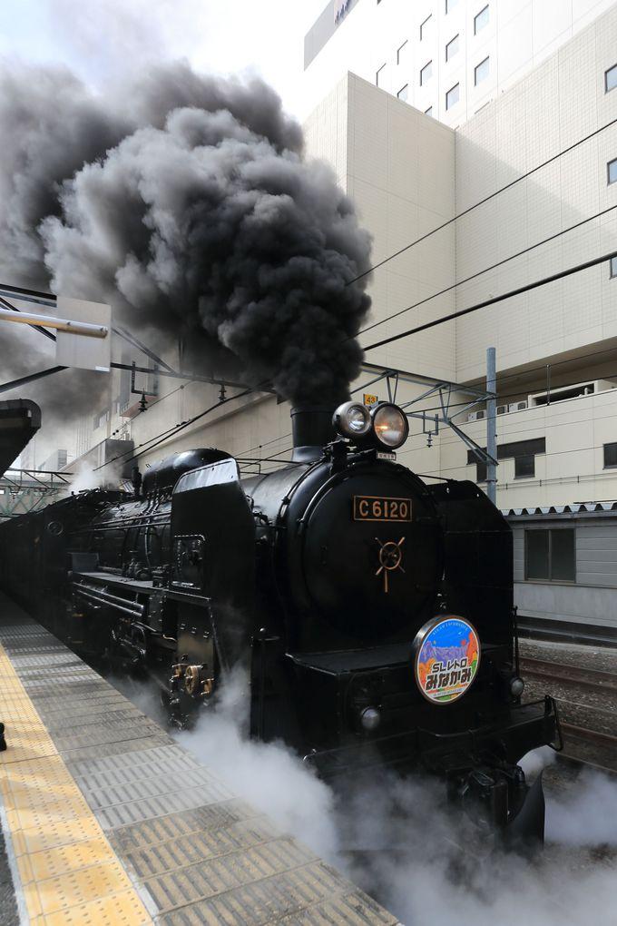 2016年から運転を始めたC61形蒸気機関車はオリジナルのまま