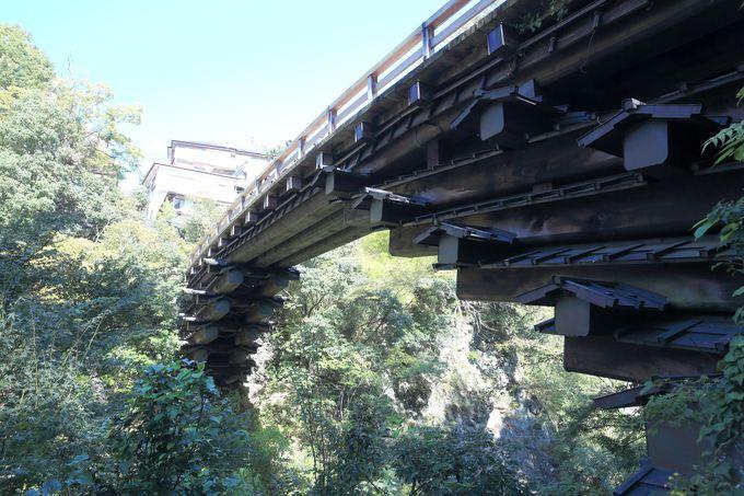 日本三奇橋の理由は、特別な構造に!猿が導いた独特の造り