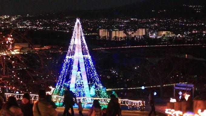 山が灯る光と夜景のコラボ!神奈川・松田きらきらフェスタ