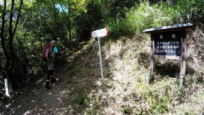 岩殿山登山道の稚児落とし分岐からの西ルートを動画で紹介!