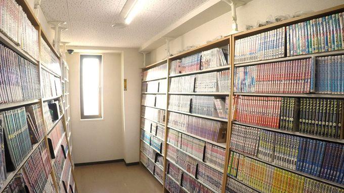 【8】大浴場【9】2500冊常備の漫画【10】フィットネスクラブ無料