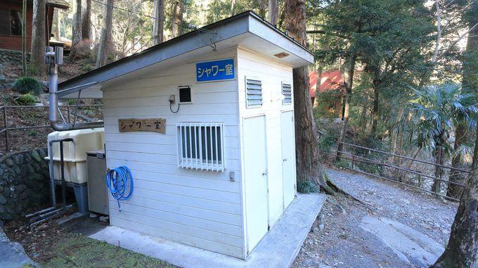 共同設備も充実!バーベキュー場や炊事場、さらにシャワー室も