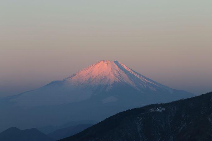 山頂直下では見事な富士山の姿を!