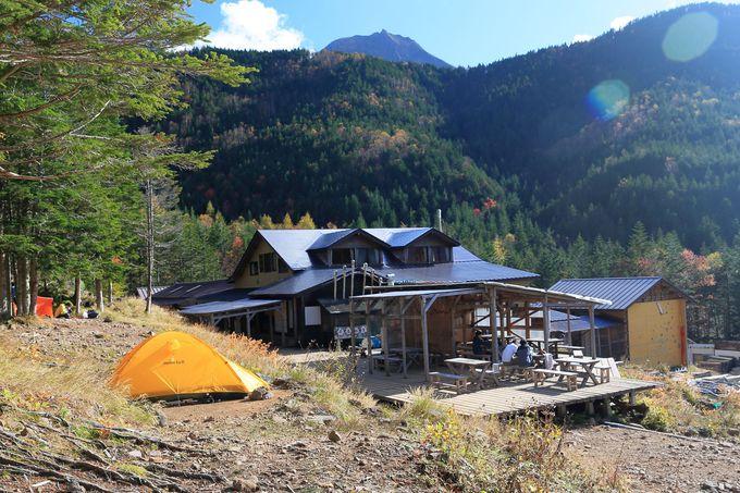 南八ヶ岳縦走は美濃戸からスタートし、ベースの山小屋まで