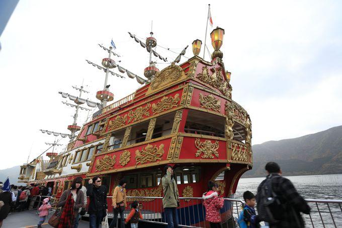 箱根海賊船を移動手段として!帰りは急行バスも