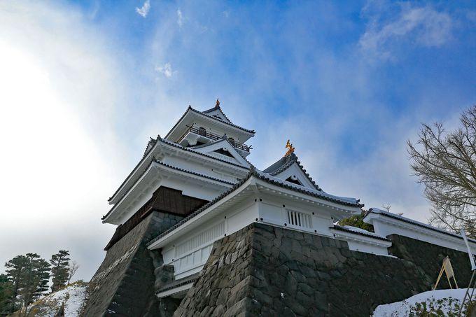 かみのやま温泉のシンボル上山城で、スーパービューを!