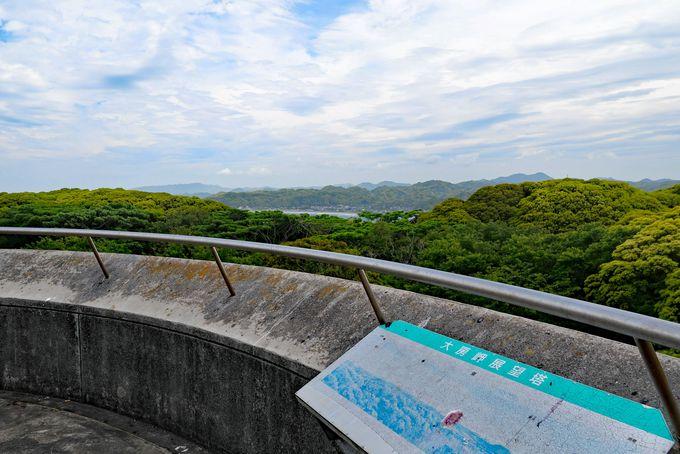 展望塔からは三浦半島などの絶景が