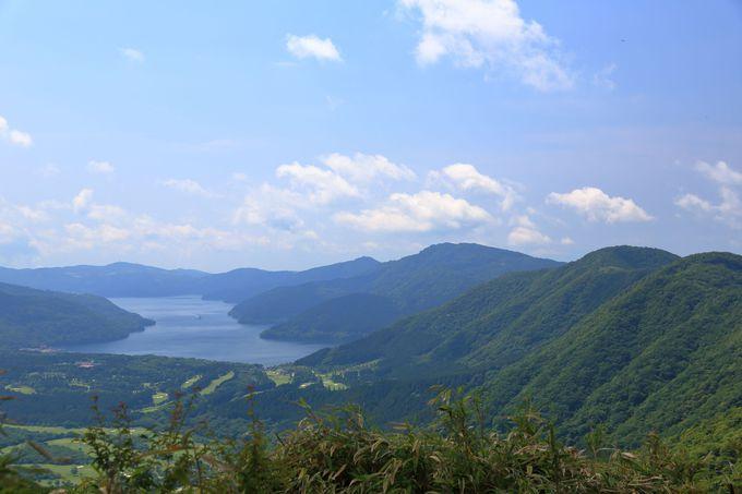 長尾峠〜丸岳のハイキングルートは桃源台から