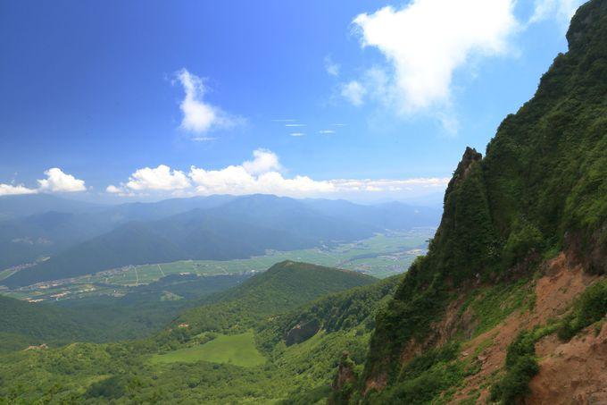 荒々しい山体崩壊の裏磐梯や遠方の山々も手に取るように