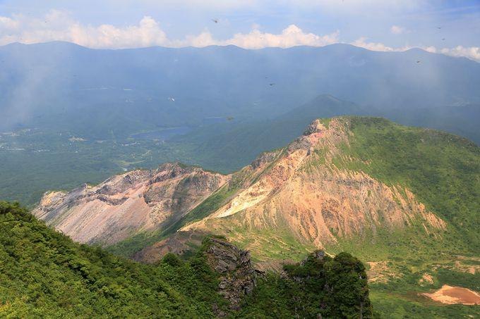 宝の山!磐梯山の山頂で満喫