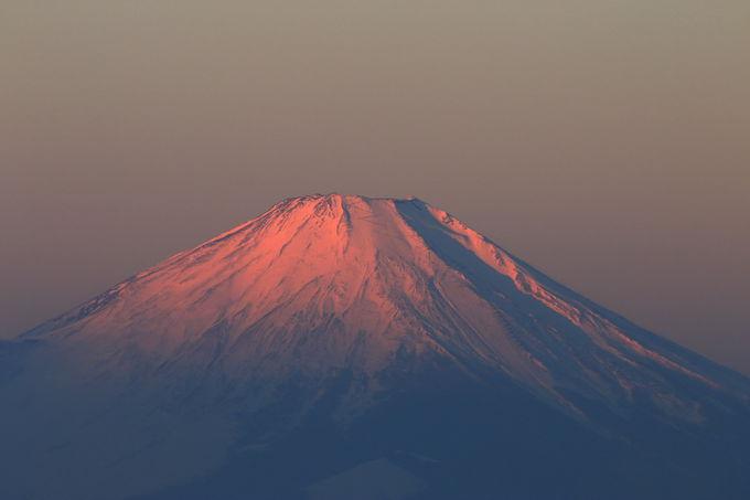 西に富士山、南に湘南とご来光を眺められる山頂
