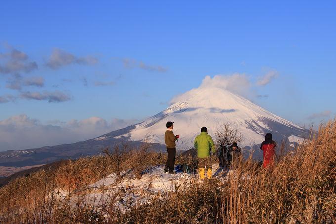 御来光に染めつくされる富士山は感動的