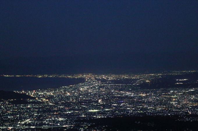 大展望の夜景から年頭のご来光を拝む