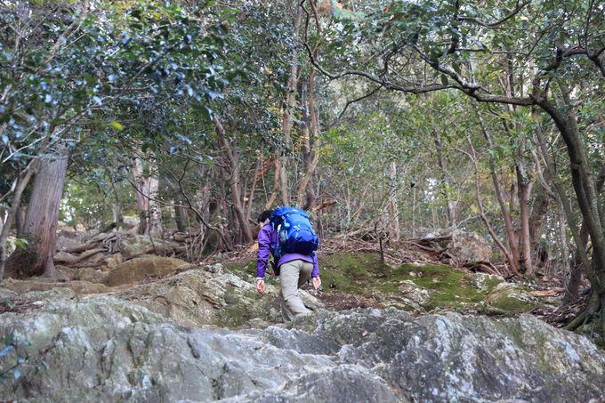 ルート最難所の「馬の背登山道」で戦国時代の健脚を確かめる
