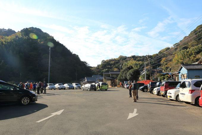 高草山石脇入り口バス停から舗装路で花沢の里駐車場まで