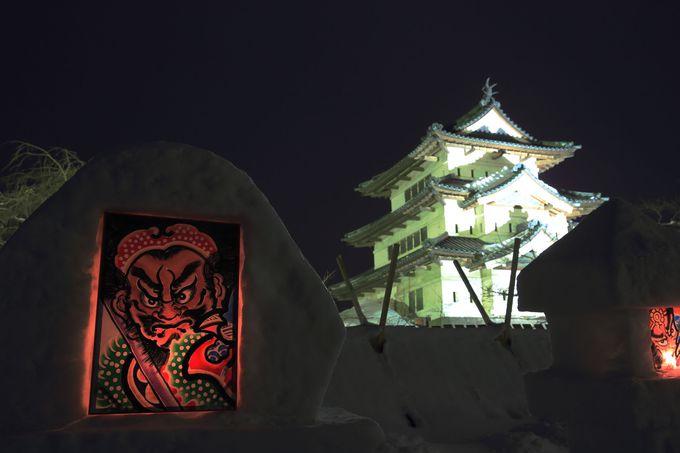 冬の青森で代表的な「弘前城雪灯籠祭り」は必見!