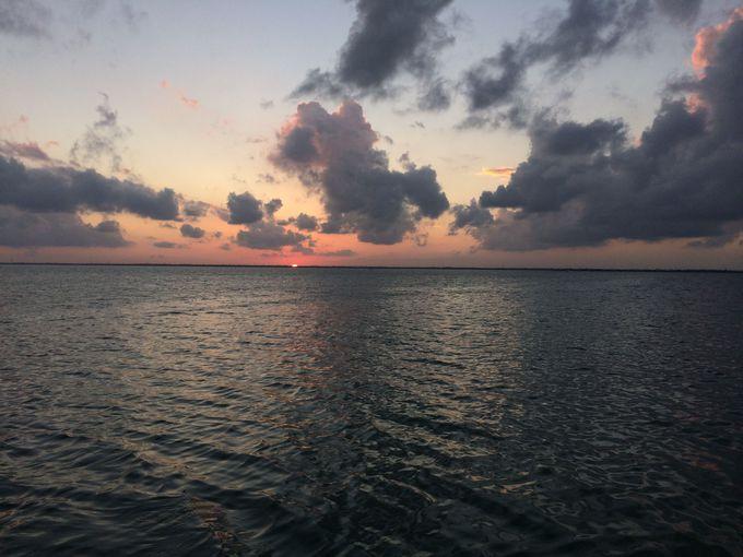 カリブ海の夕日を撮影!