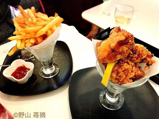 珍しい軽食パフェ!からあげパフェにライスパフェまで!