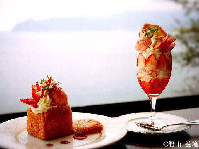 人気のフルーツパフェと宝石箱のようなキューブパンのパフェ!