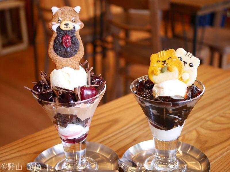 動物クッキーのせパフェが可愛すぎ!目黒区「henteco森の洋菓子店」