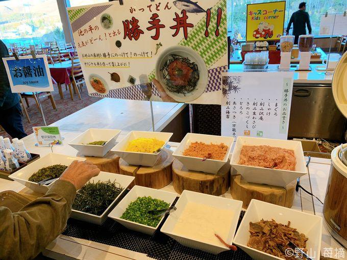 信州奈川名物の投汁そばに池の平の勝手丼!