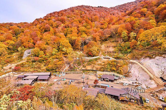 川原毛地獄や泥湯温泉の紅葉も絶景!
