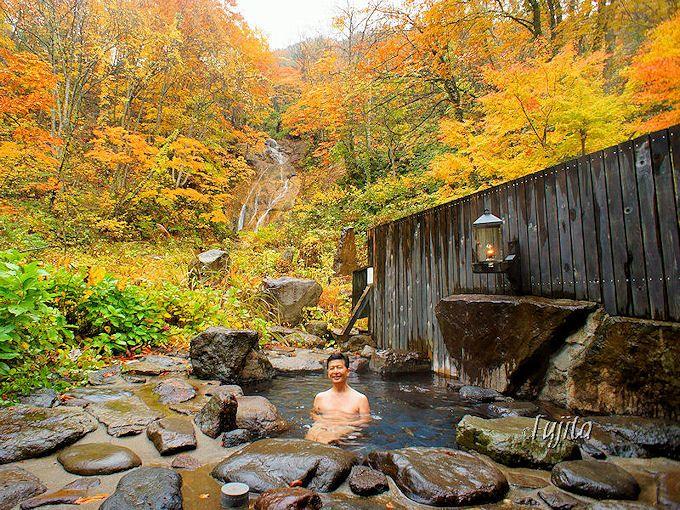 ランプの宿 青荷温泉では明るい内に風呂に入っておこう!