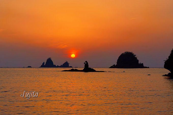 大田子海岸の夕日は3月と9月が見頃!