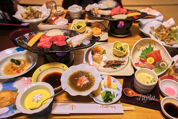 伊香保温泉千明仁泉亭の夕食はバランスが素敵!