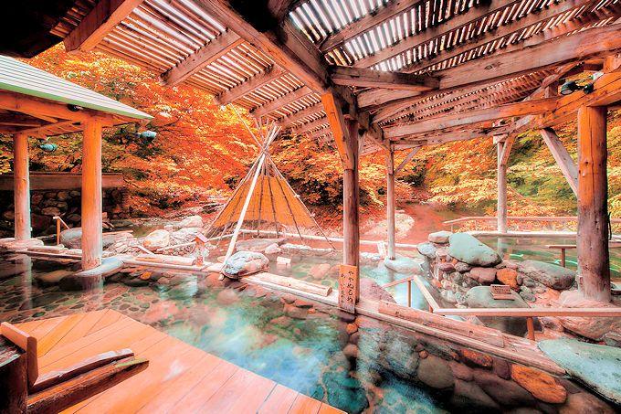 紅葉の絶景が凄い!「ゆづくしSalon一の坊」広瀬川源流露天風呂