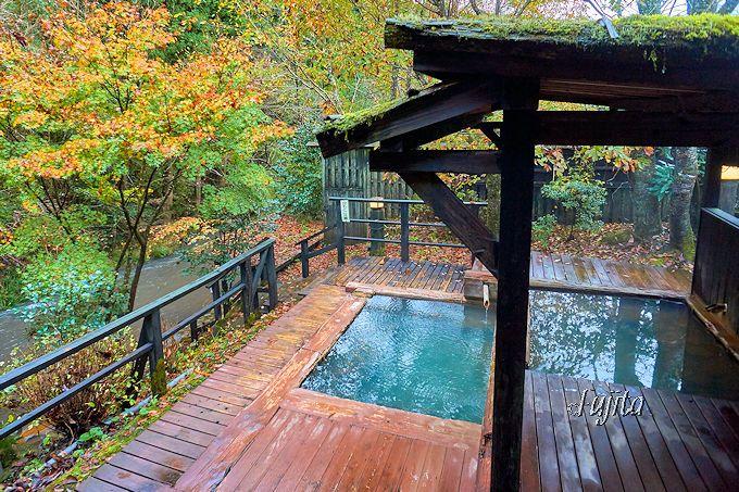 奥満願寺温泉「旅館 藤もと」は、温泉の充実度が最大の魅力!