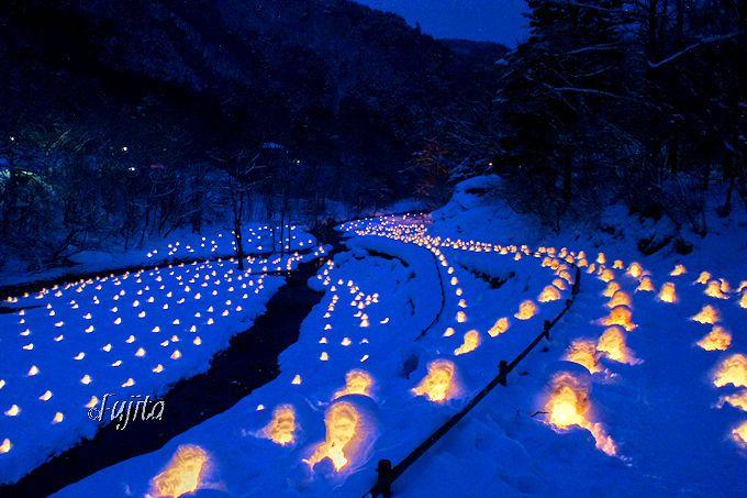 湯西川温泉「かまくら祭」はライトアップが絶景!