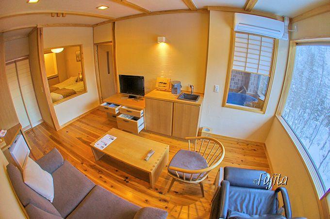深山桜庵はモダンな客室が魅力的!