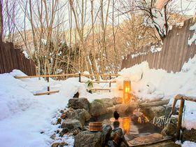 雪見の貸切露天風呂!平湯温泉「匠の宿 深山桜庵」で冬の奥飛騨を満喫