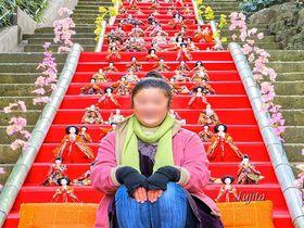 雛人形と雛壇で記念撮影が可能!伊豆・伊東温泉「MAGARI雛&KAGUYA雛」祭り