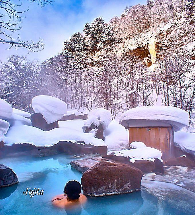 第二露天風呂も雪見に最適!
