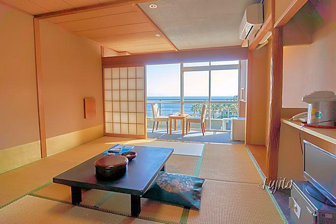 伊豆熱川温泉「ホテルおおるり」の客室は、オーシャンビュー!