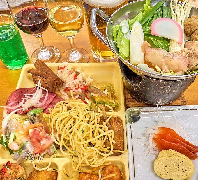 食べ放題&飲み放題の夕食は、大皿料理で補充も早い!